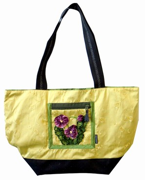 Purple Pansy Tote  |  Goody Goody