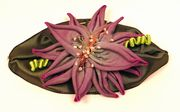 Purple Dahlia Brooch